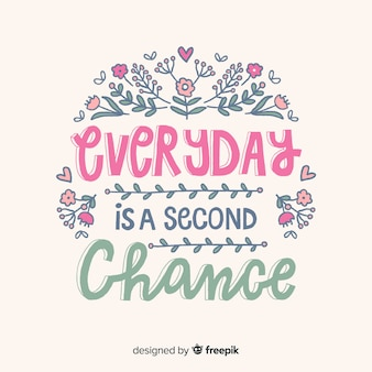 Motivational quote about second chances