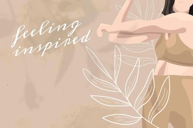 Citazione motivazionale modello modificabile vettore salute e benessere yoga donna colore floreale social media post