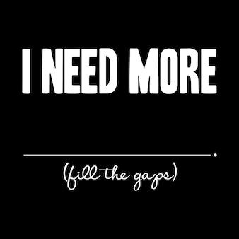 Motivational quote, typography & slogan