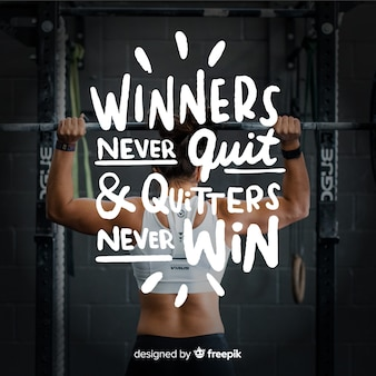 Motivational sport lettering background with picture