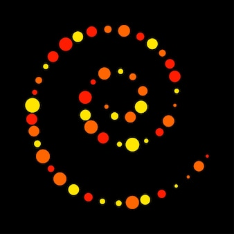 Motley bright circle abstract pattern background. vector red, yellow, orange colored spiral for design card, modern pop party invitation, t shirt, poster, flyer etc.