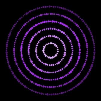 가지각색의 밝은 스프레이 원 추상 패턴 배경. 디자인 카드, 현대적인 팝 파티 초대장, 티셔츠, 포스터, 전단지 등을 위한 벡터 축제 밝은 원형 장식