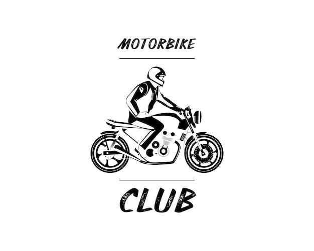 Moto bike icon. cafe racer.