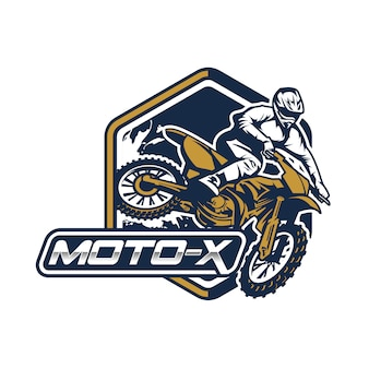 Moto cross badge