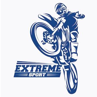 Moto track или motocross jump logo vector