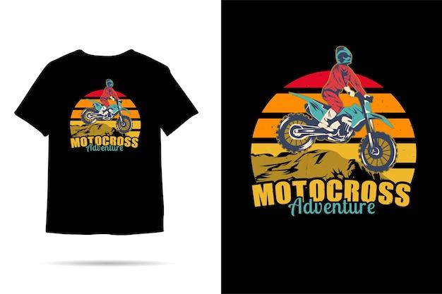 Motocross adventure silhouette tshirt design