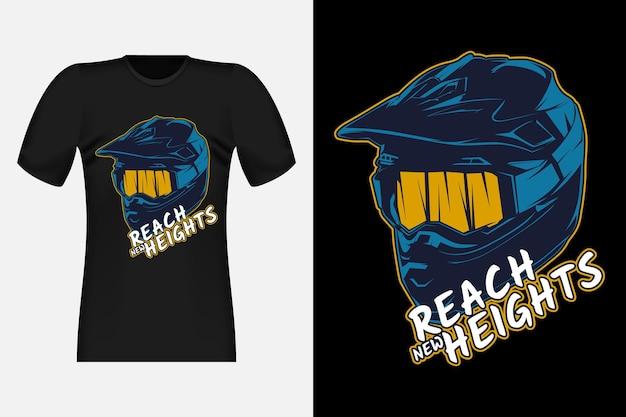 모토크로스 어드벤처 실루엣 빈티지 티셔츠 디자인