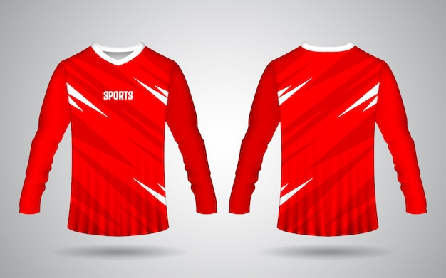 Motocross and bicycle sport long sleeve jersey template