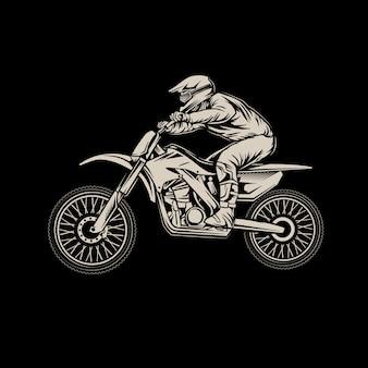 Motocross on black
