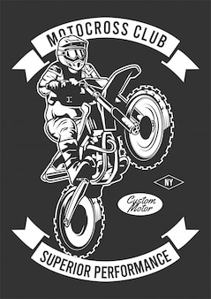 Motocross club design illustration
