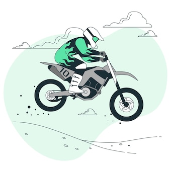 Motocross concept illustration