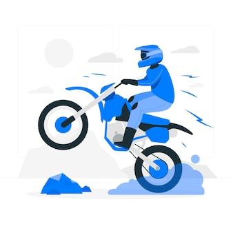 Иллюстрация концепции мотокросса