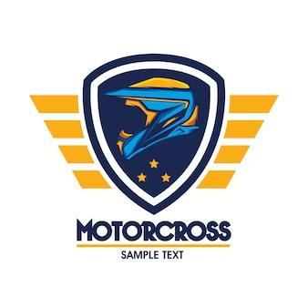 Motocross design emblem