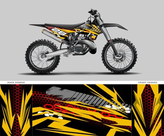 Мотокросс графическая наклейка наклейка kit