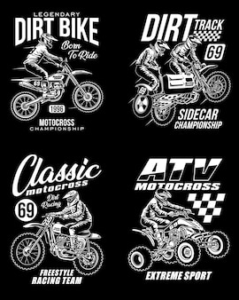 Motocross graphic t-shirts collection