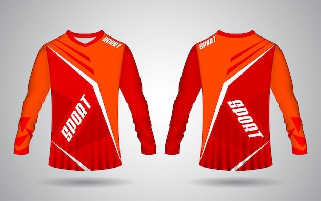 Motocross jersey template orange