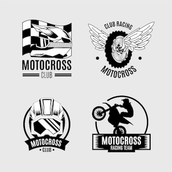 Motocross logo collection concept