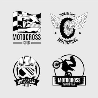Концепция коллекции логотипов мотокросса