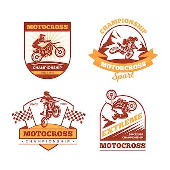 Коллекция логотипов мотокросса