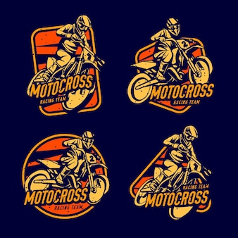 Motocross logo collection