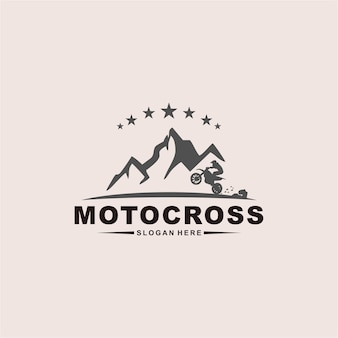 Мотокросс дизайн логотипа