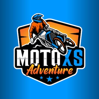 Шаблон логотипа мотокросса