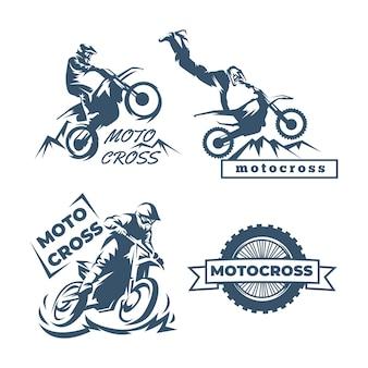 Коллекция шаблонов логотипов мотокросса