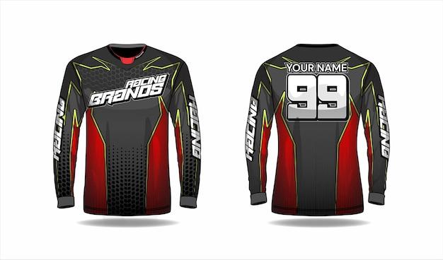 Motocross shirt template, racing jersey design