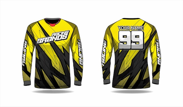 Motocross shirt template, racing jersey design
