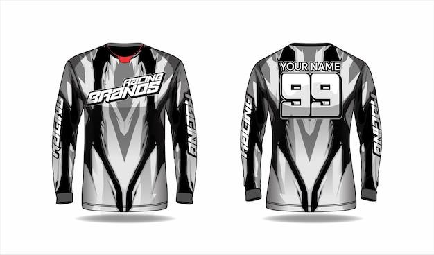 Шаблон рубашки для мотокросса, дизайн гоночной майки