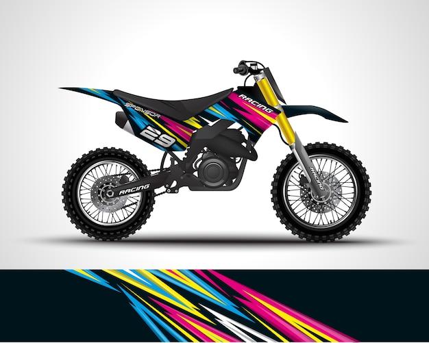 Motocross wrap decal illustration