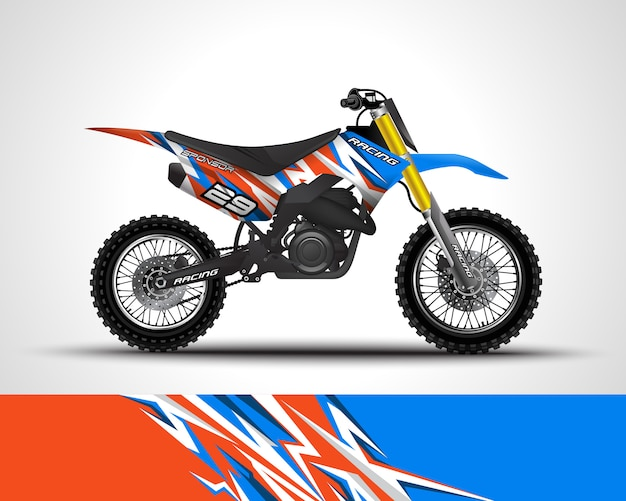Motocross wrap decal and vinyl sticker illustration.