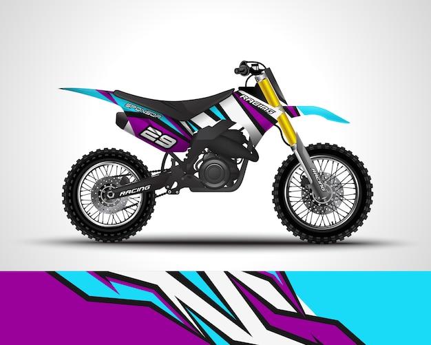 Motocross wrap decal and vinyl sticker