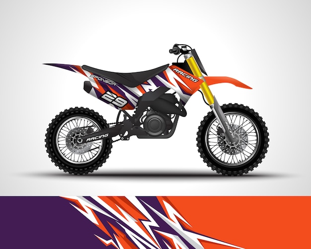 Motocross wrap decal and vinyl sticker