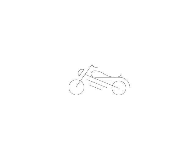 모터 자전거 아이콘 벡터 라인 아트 디자인입니다. 벡터 일러스트 레이 션.