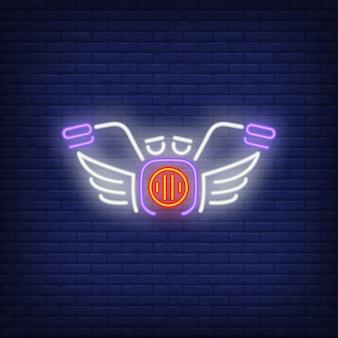 Motor bike neon icon