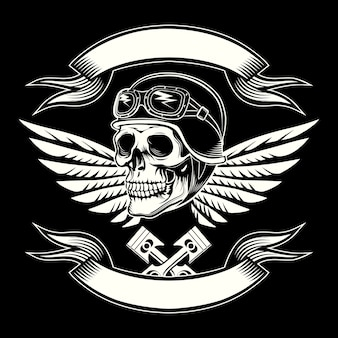 Эмблема моторного черепа