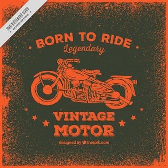 Motorbike background in red tones