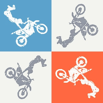 Motorbike and bikers man illustration. creative and sport style image