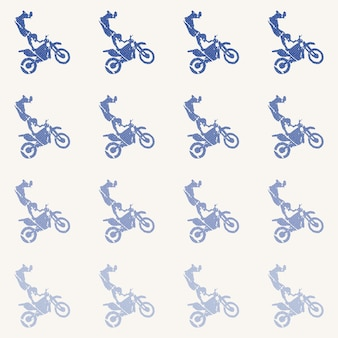 Motorbike and bikers man pattern illustration. creative and sport style image
