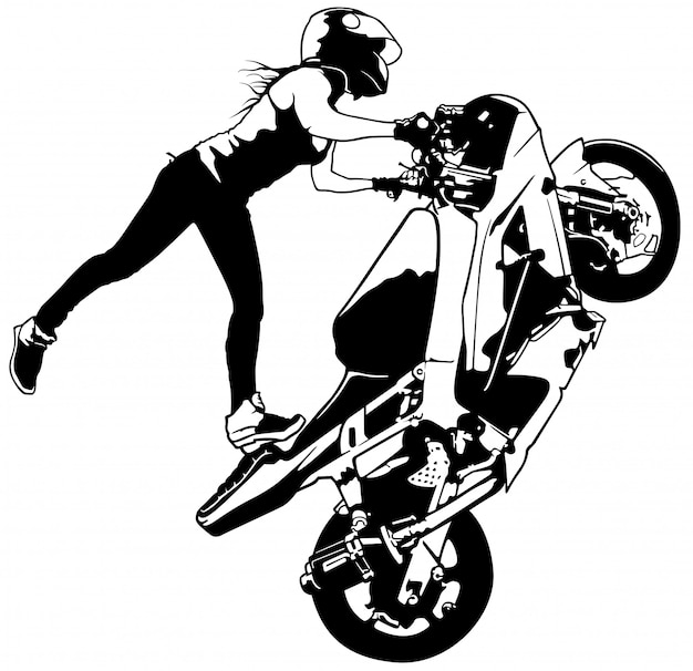 lady biker vectors photos and psd files free download Cafe Racer Culture Bad Girls motorbike girl