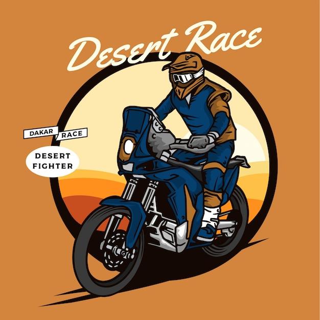 Motorcross in dakar rally desert