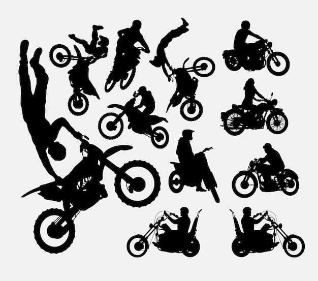 Motorcross sport silhouette