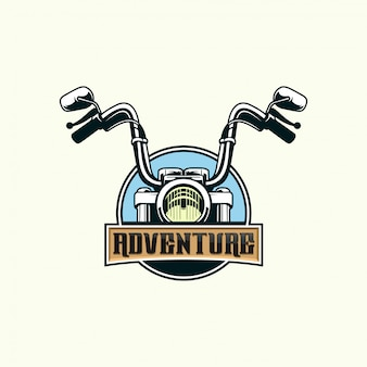 Motorcycle adventure premium vector