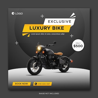 Motorcycle or bike sale promotion social media facebook cover banner template