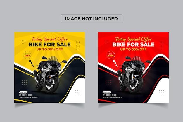 Motorcycle or bike sale promotion social media post