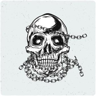 Motorcycle biker's skull
