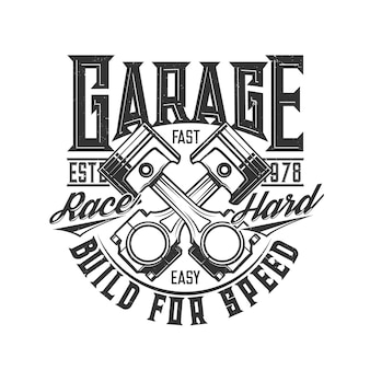 Motorcycle and car custom garage