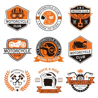 Motorcycle club logo and badges design