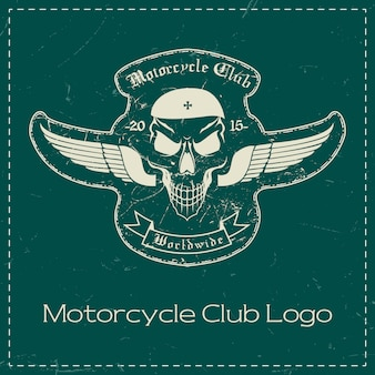 Motorcycle club skull logo design